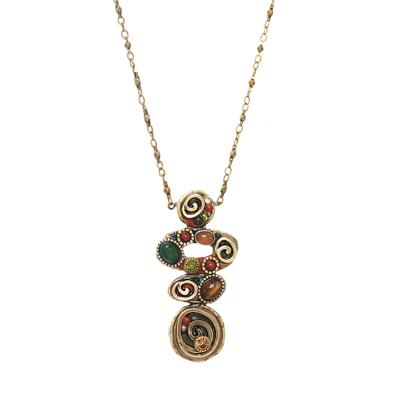 Evergreen Abstract Necklace