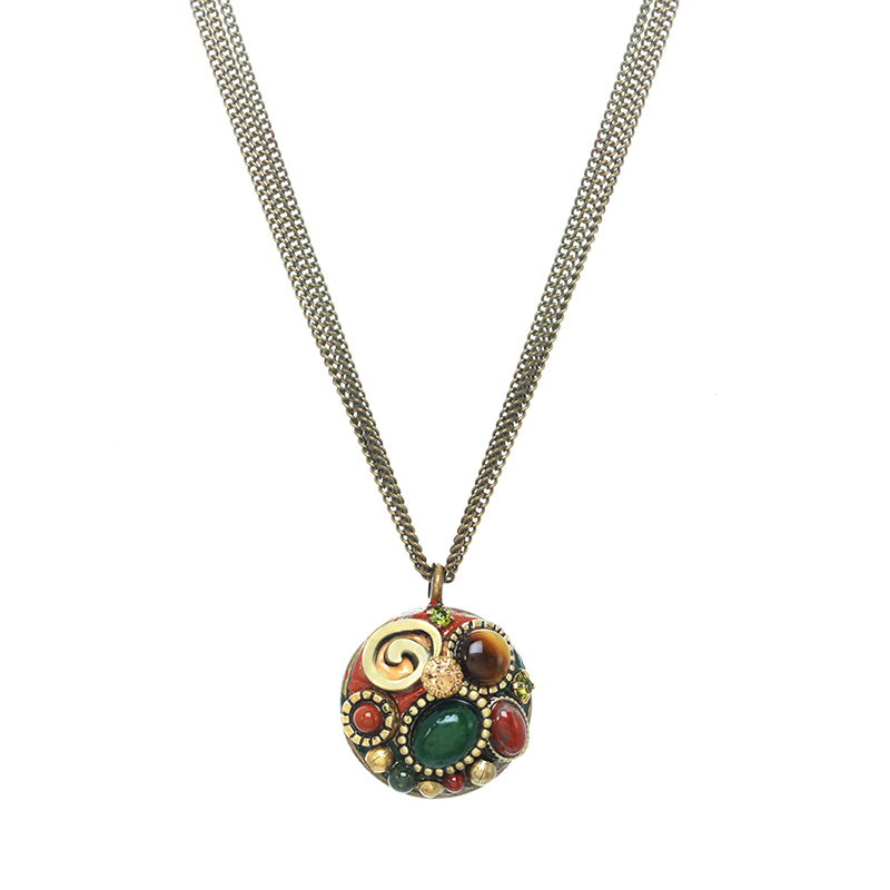 Evergreen Circle Necklace