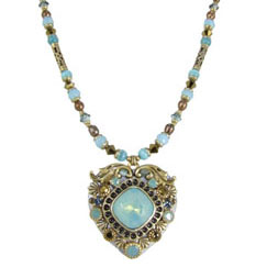 Pacific Opal Heart Necklace