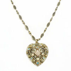 River Stone Heart Necklace