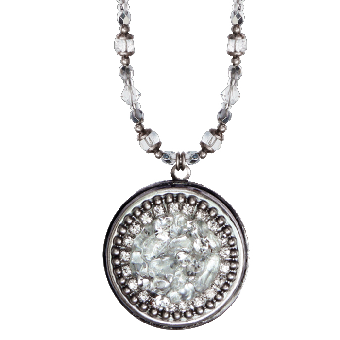 Icy Dreams Circle Locket Necklace