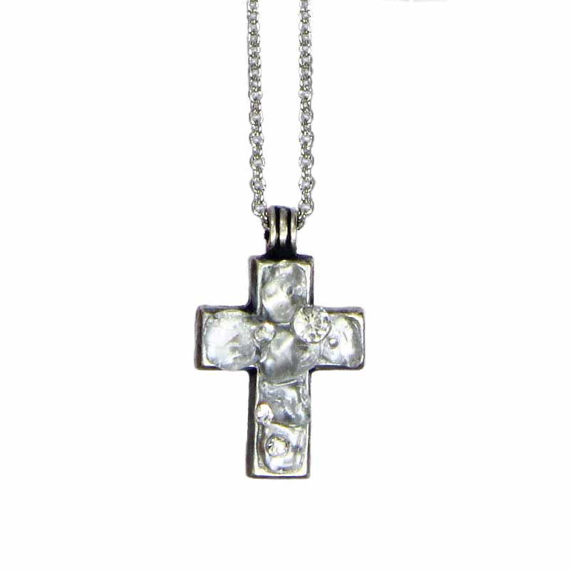 Icy Dreams Small Cross Necklace
