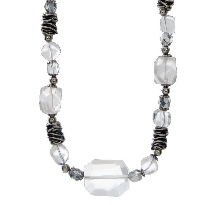 Icy Dreams Chunky Beaded Necklace