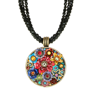 Eden Large Circle Beaded Necklace
