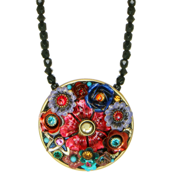 Eden Medium Circle Beaded Necklace
