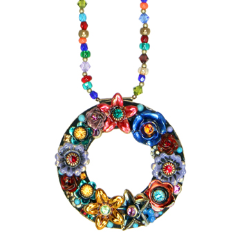 Eden Open Circle Beaded Necklace