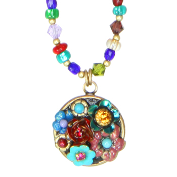 Eden Small Circle Beaded Necklace