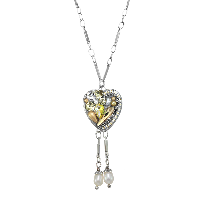 Moonlight Heart Dangling Necklace