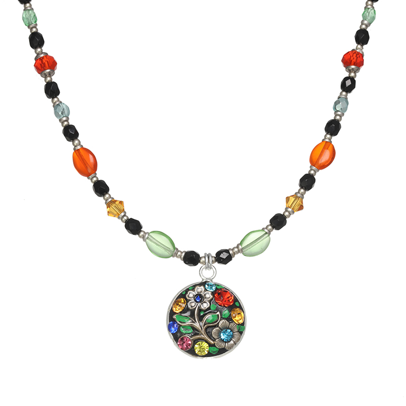 Midsummer Circle Beaded Necklace