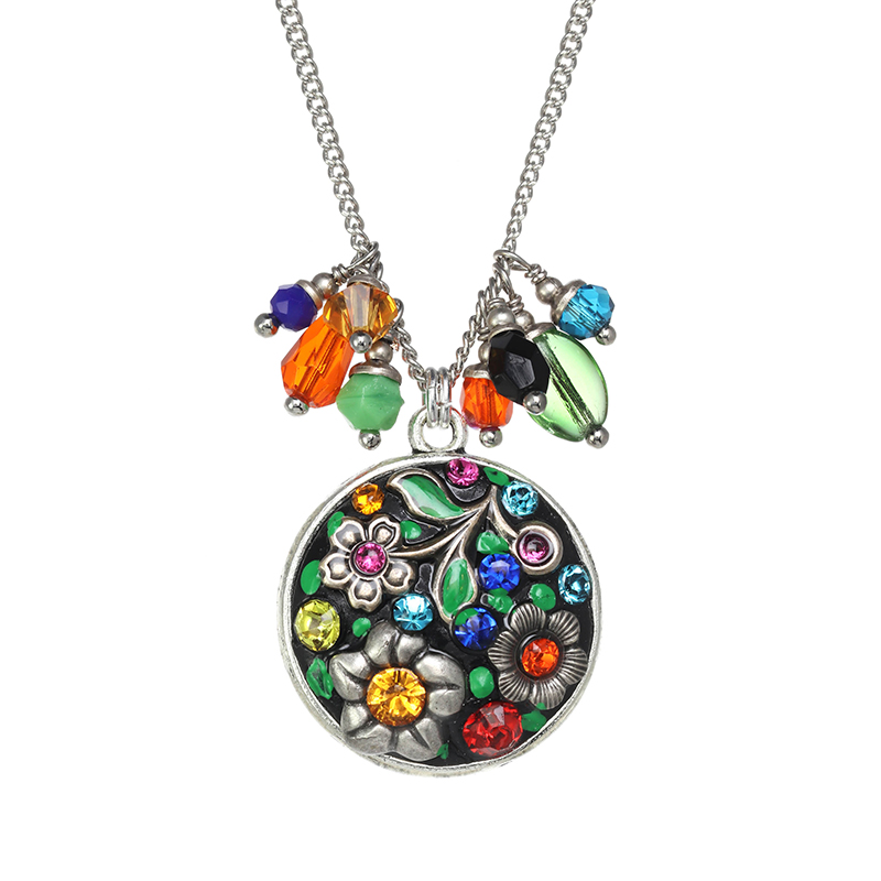 Midsummer Circle Charm Necklace
