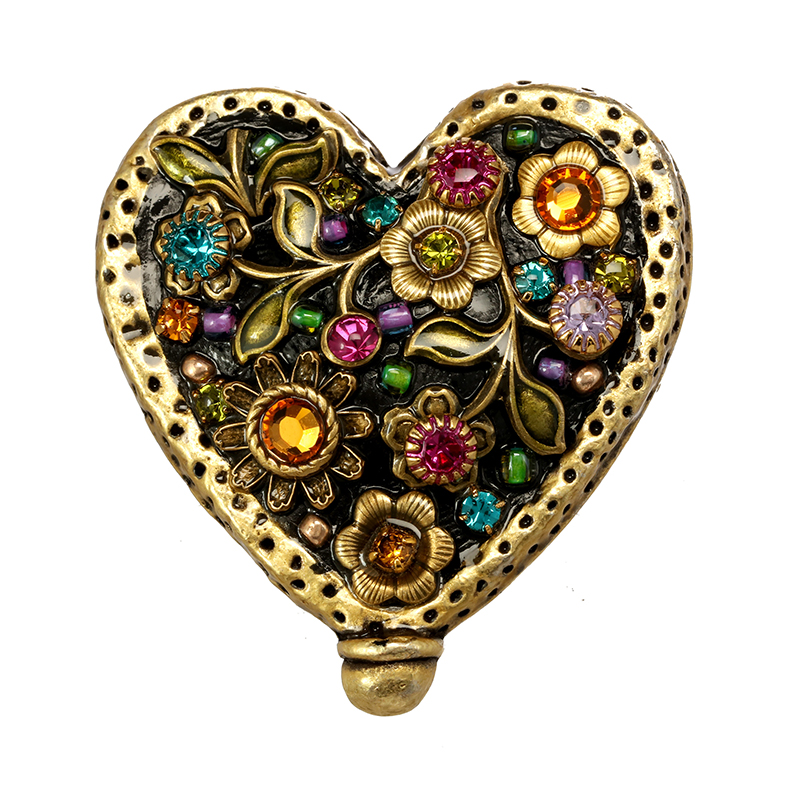 Midnight Garden Heart Pin