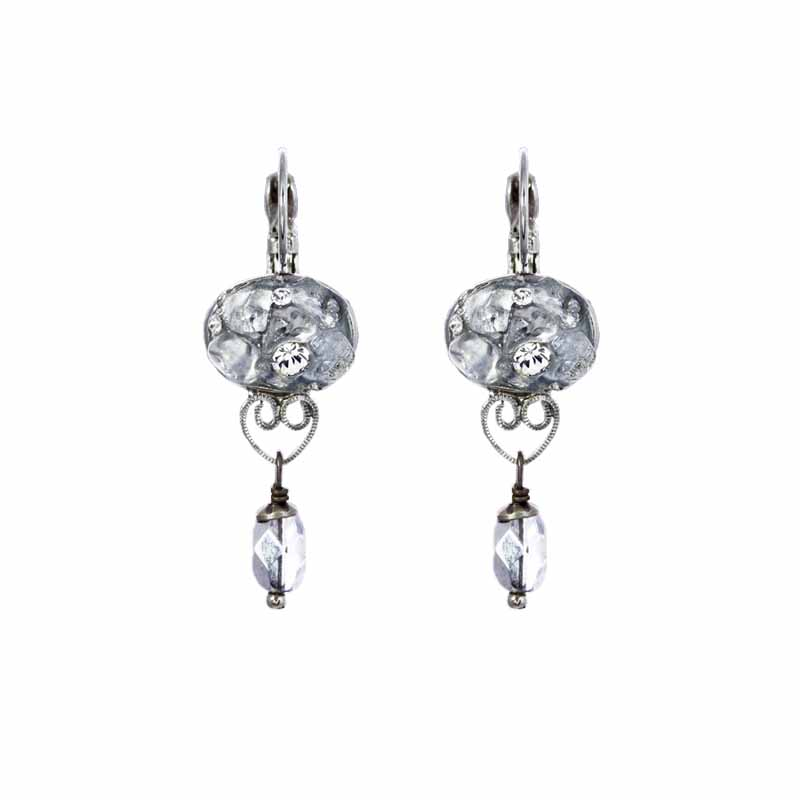 Icy Dreams Oval Dangling Earrings