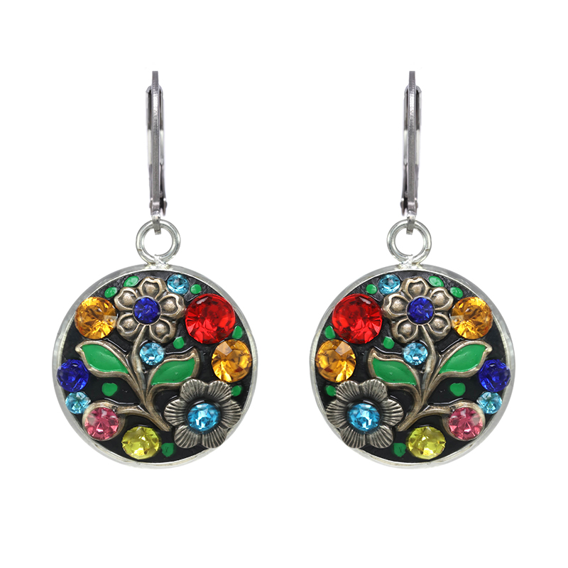 Midsummer Circle Dangling Earrings