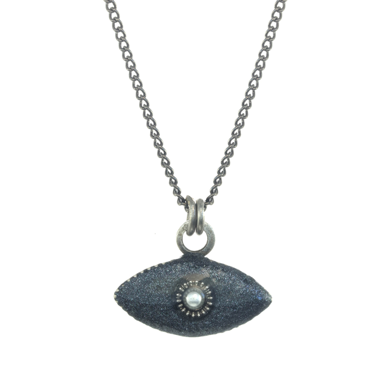 Mini Grey Eye Necklace