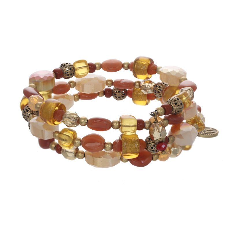 Autumnal Memory Wire Bracelet