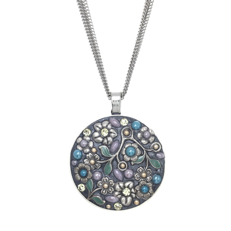 Frost Garden Large Circle Necklace